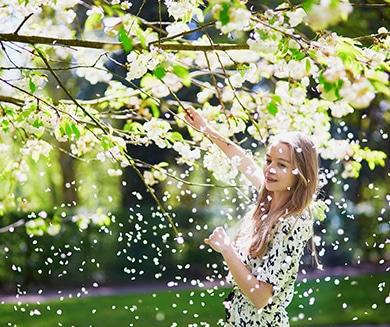 Foto de mujer en parque